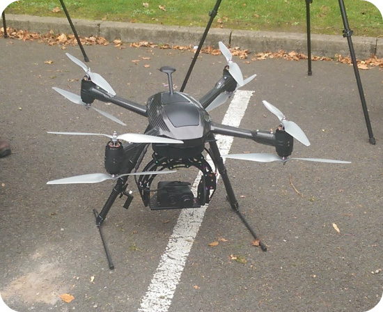 UAV drone for aerial imagery tree surveys, forestry