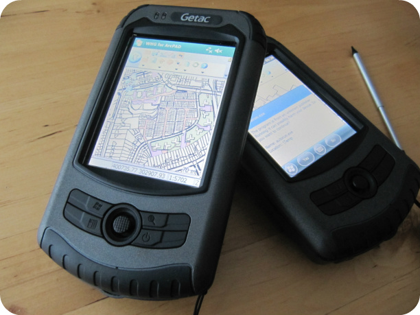 GETAC PS535F hand held gps computer